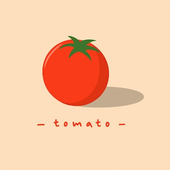 Rote tomaten-symbol-design-frucht-vektor-illustration