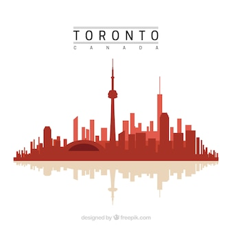 Rote Toronto Skyline