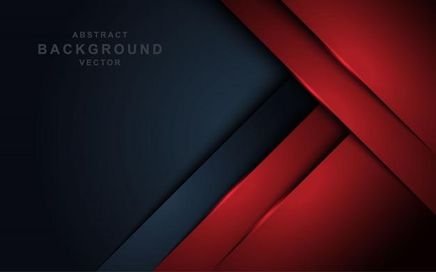 Rote überlappungsschicht auf dunkelgrauem hintergrund.