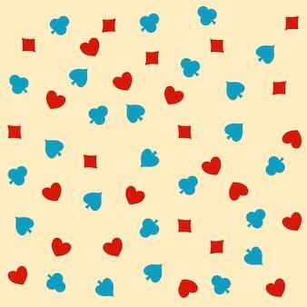 Rote und blaue karte passt nahtlosen musterhintergrund.
