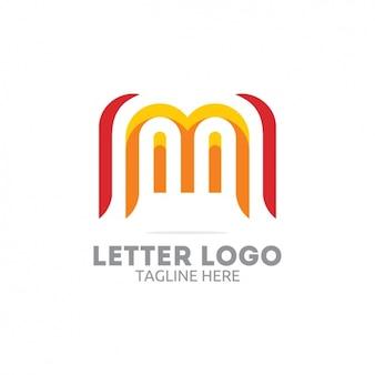 Rote und gelbe buchstaben-logo
