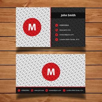 Rote und graue corporate visitenkarte