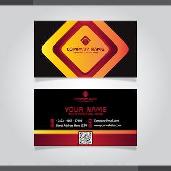 Rote und orange moderne kreative visitenkarte und namenskarte