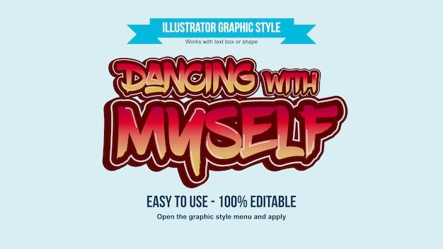 Rote und orange moderne typografie des graffiti-stils