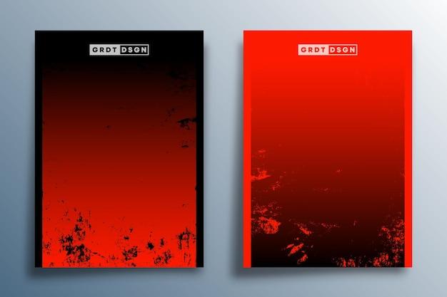 Rote und schwarze farbverlaufstextur für flyer, poster, broschürencover, hintergrund, tapeten, typografie oder andere druckprodukte. vektor-illustration.