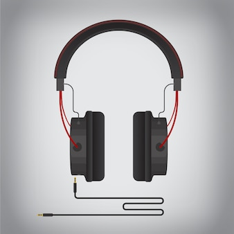 Rote und schwarze gaming-kopfhörer