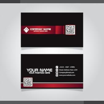 Rote und schwarze moderne kreative visitenkarte und visitenkarte