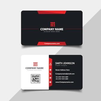 Rote und schwarze visitenkarte