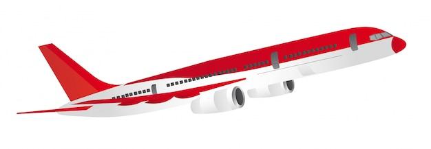 Rote und weiße flugzeuge getrennt über weißem hintergrundvektor
