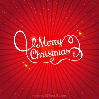 Rote und weiße frohe weihnachten gruß