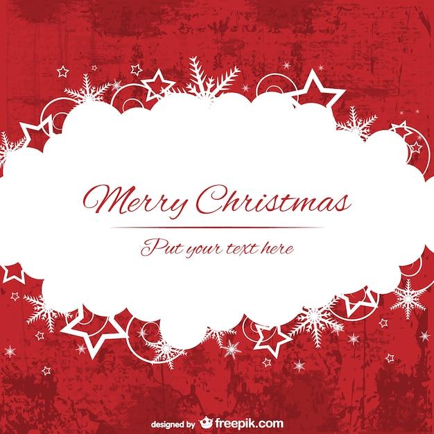 Rote und weiße frohe weihnachten hintergrund vorlage