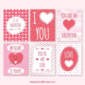 Rote und weiße schöne valentinstag-karten
