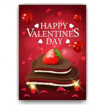 Rote valentinstagabdeckung mit praline