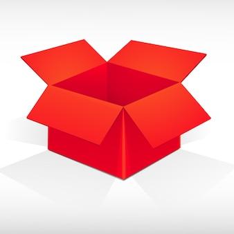 Rote verpackungsschachtel