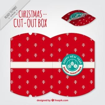 Rote weihnachtsausgeschnitten box