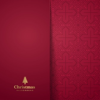 Rote weihnachtsgrußkarte