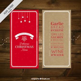 Rote weihnachtsmenü