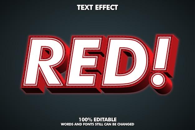 Roter 3d-texteffekt mit äußerem glühen