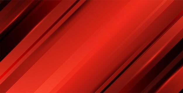 Roter abstrakter gradientenhintergrund mit minimalen geometrischen formen