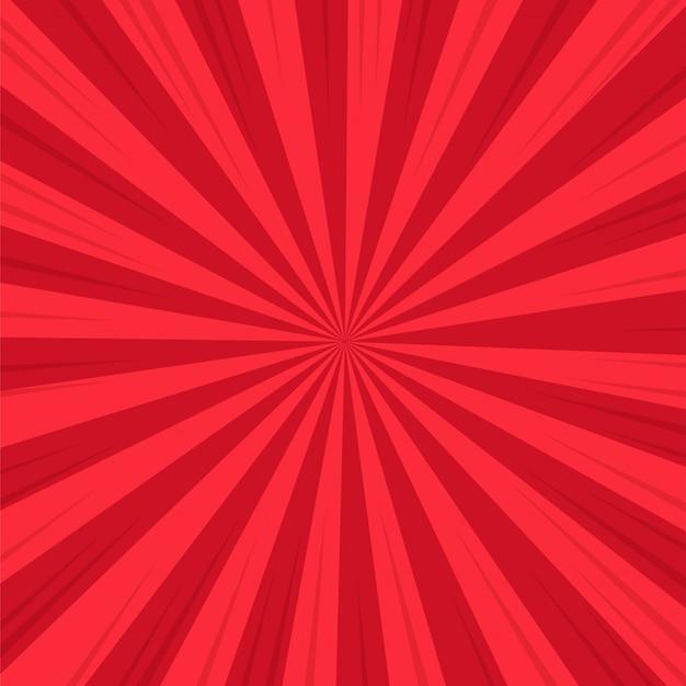 Roter abstrakter komischer karikatur-sonnenlicht-hintergrund.