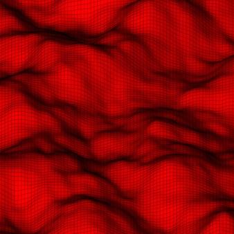Roter abstrakter low-poly, polygonaler dreieckiger mosaik-höhenhintergrund
