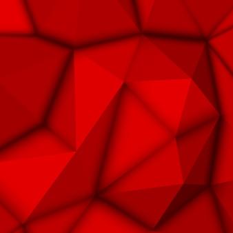 Roter abstrakter polygonaler hintergrund