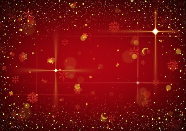 Roter abstrakter weihnachtshintergrund mit funkeln