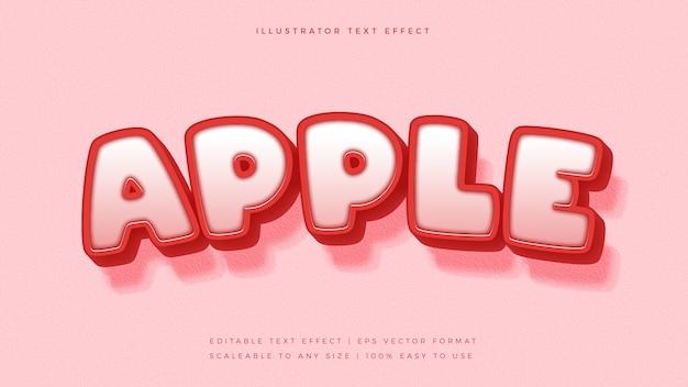 Roter apple text style schrifteffekt