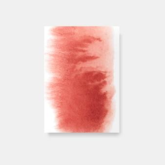 Roter aquarellartkartenvektor