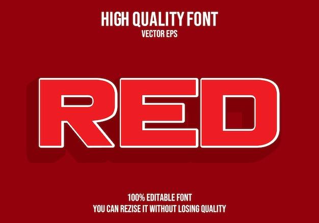 Roter bearbeitbarer text effekt