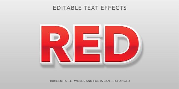 Roter bearbeitbarer texteffekt