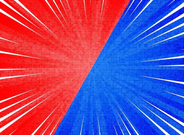 Roter blauer farbhintergrund der abstrakten sonne sprengte kontrast