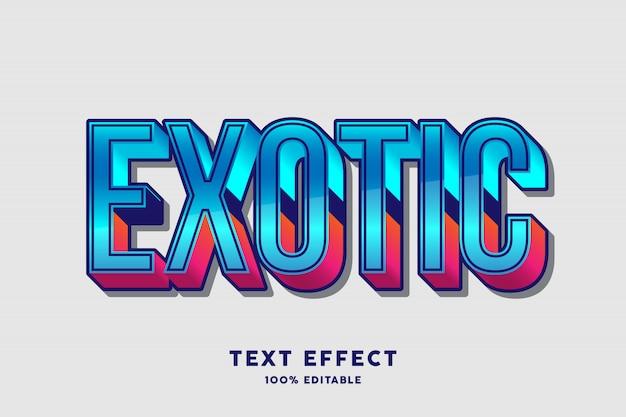 Roter blauer neuer farbtexteffekt, editable text