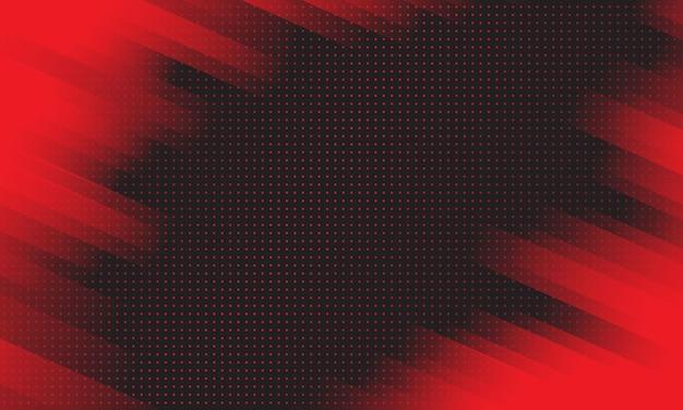 Roter diagonaler geometrischer gestreifter hintergrund mit halbtonmuster