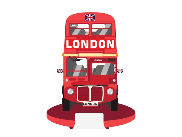 Roter doppeldeckerbus