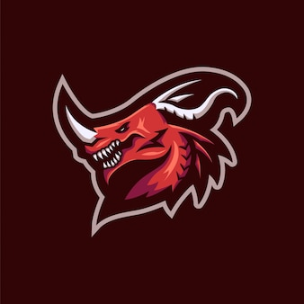 Roter drache logo