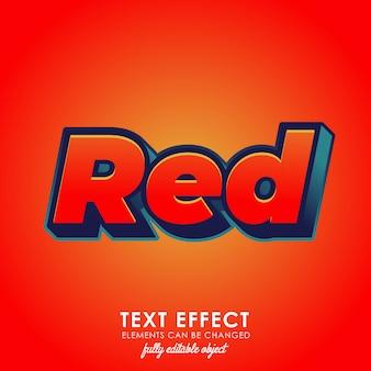 Roter erstklassiger effekt des textes 3d