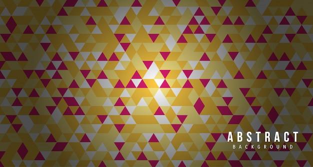 Roter gelber hintergrund des abstrakten dreiecks