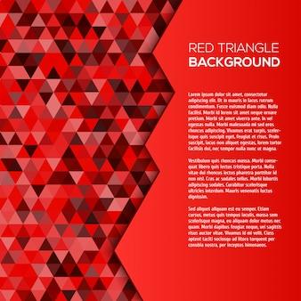 Roter geometrischer hintergrund mit dreiecken