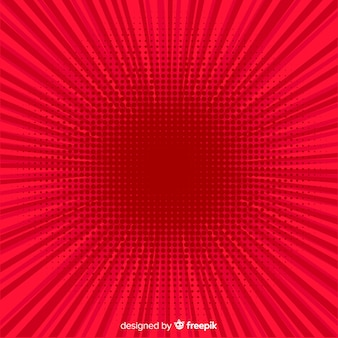 Roter halbton comic-hintergrund