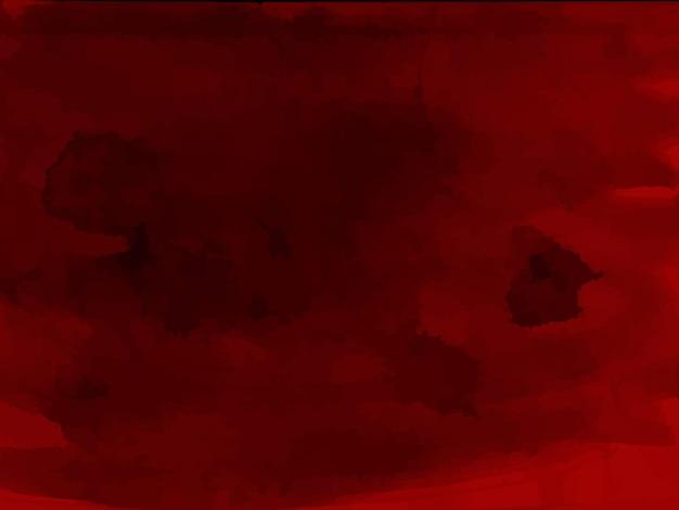 Roter halloween-blutiger aquarellhintergrund-blutmusterschmutzbeschaffenheitsvektor