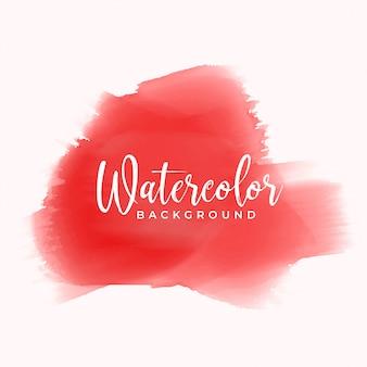 Roter handgemalter aquarellbeschaffenheitshintergrund