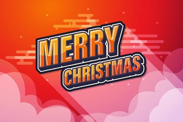 Roter himmel mit textrede der frohen weihnachten