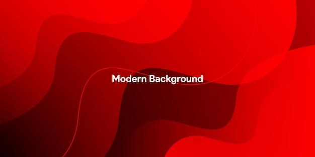 Roter hintergrund der abstrakten modernen bunten farbverlaufskurve