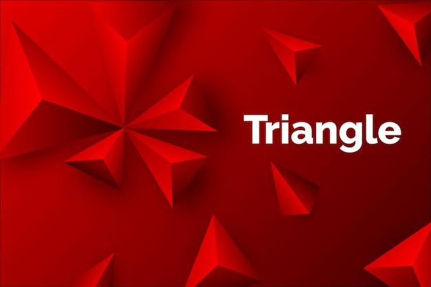 Roter hintergrund des dreiecks 3d