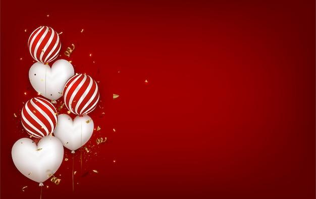 Roter hintergrund für valentinstag