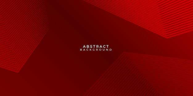 Roter hintergrund mit abstrakten linien stipes modern