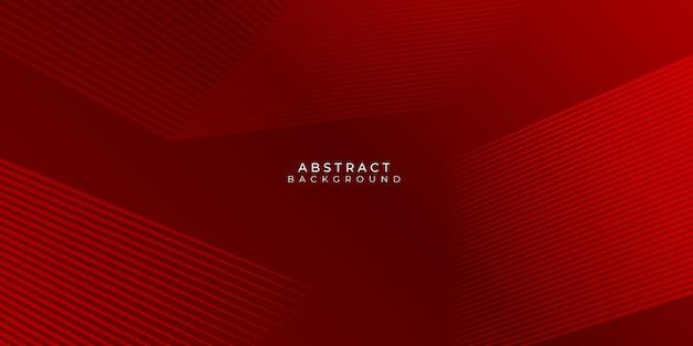 Roter hintergrund mit abstrakten linien streift modernes element für banner, präsentationsdesign und flyer