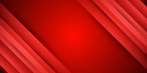 Roter hintergrund mit farbverlaufsstreifen