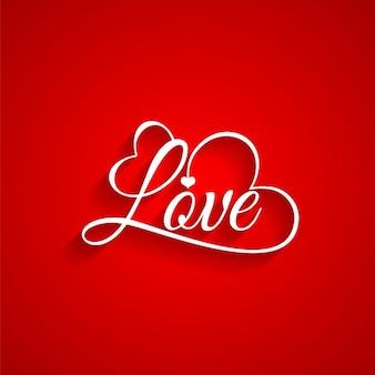 Roter hintergrund von valentine